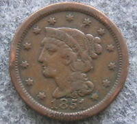 UNITED STATES 1851 ONE CENT, LIBERTY HEAD - BRAIDED HAIR