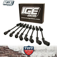 VE Holden Commodore & HSV L98 LS2 LS3 6lt 6.2lt V8 9mm ICE Ignition Leads Black