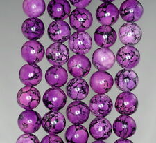 10MM PURPLE TURQUOISE GEMSTONE ROUND 10MM LOOSE BEADS 16""