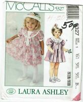 McCalls 5327 Sewing Pattern Toddlers Dress Size 1 Laura Ashley