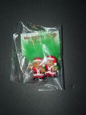 "Troll Doll 1"" Russ Good Luck Christmas Santa Claus Green Pierced Earrings"