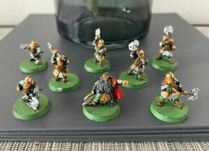 GW LOTR Balin Khazad Guard Metal Models RARE Dwarves Middle Earth Painted