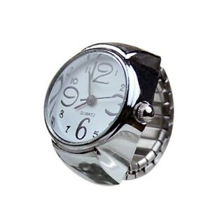 """""""Finger Ring *Watch Vintage Silver Analog Gift Band For Women"""""""