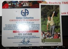 Autographed Golf Sports Trading Card with COA Jack Nicklaus The Dormy Collection