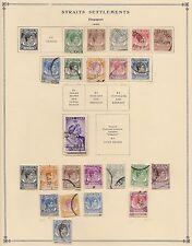 STRAITS SETTLEMENTS & MALAYA Stamp..1921-1961..(100+ stamps)..Hinged on Scott