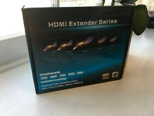 HDMI LAN Extender Repeater Over Single Cat5E/6 RJ45 Up To 200Ft 60M 1080P 3D DF