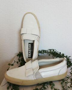 """★ GOLDEN GOOSE ★ deluxe Brand Sneaker 40 weiss Lack """"mit Schleife"""" NP420- LUXUS"""
