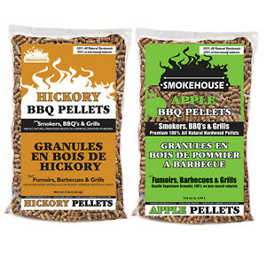 Smokehouse Products 5 Pound Bag BBQ Pellets All Natural Hardwood Flavor (2 Pack)