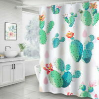 Modern Bathroom Printed Shower Curtain Waterproof Polyester Shower Curtain 180cm
