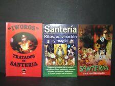 #1 JUEGO 3 BOOKS SANTERIA libros ritos adivinacion magia revelaciones tratados