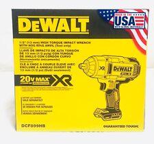 DEWALT 20V MAX Li-Ion 1/2 in Hog Ring Impact Wrench DCF899HB New (Bare Tool)