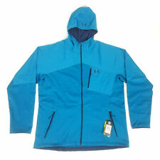 Under Armour Mens 3XL ColdGear Reactor Full Zip Hood Jacket Teal Fitted