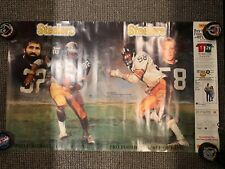 1990 STEELERS HALL OF FAME POSTER 23X37 INCHES FRANCO HARRIS JACK LAMBERT