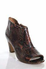 Maison Martin Margiela-Peep Toe Booties botín de cuero talla 37,5