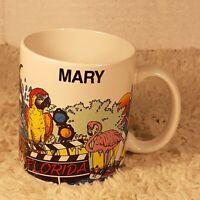 Vtg 1989 Florida Vacation Disney Amusement Park Souvenir Mary Ceramic Coffee Mug