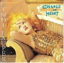 "CYNDI LAUPER  Change Of Heart  PICTURE SLEEVE 7"" 45 record NEW + juke box strip"