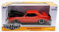 Jada Toys 1/24 Scale Model Car 98236 - 1973 Plymouth Barracuda - Red