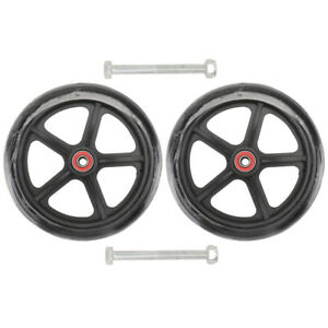 2pcs Front Wheel Wheelchair Accessories 7-Inch Tire Small Wheel (Black)