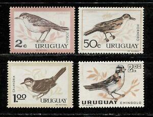 URUGUAY 1963, BIRDS, Scott 695-698, MNH
