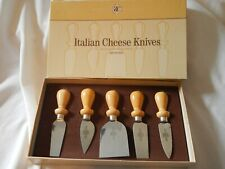 Williams Sonoma-Italian Cheese Knives-5pc Set-Stainless Steel-Made in Italy