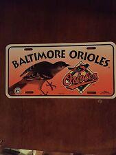 Baltimore Orioles Plastic License Plate