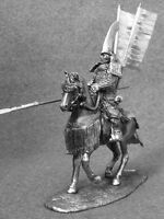 Medieval Japanese Cavalry Samurai W Yari 1/32 Figures Tin Toy Soldiers 54mm