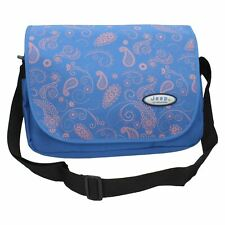 Jeep Ladies Girls Blue Floral Print School Laptop Notebook Messenger Courier Bag