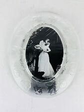 Fifth Avenue Crystal Floral Picture Frame Oval 11 x 9