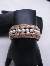 LovelyEstate 1970's -1980's 14K Gold Bead and WhitePearl Daytime Bracelet