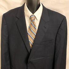 48L Mens JOS A BANK Sport Coat Blazer Suit Jacket Wool Black Textured Stripes