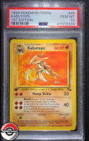 1999 Pokemon Fossil Kabutops 1st Edition #24 PSA 10 Gem-Mint