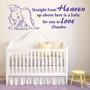 Dumbo El Elefante Recto De Cielo Walt Disney Adhesivo de Vinilo para Pared Frase
