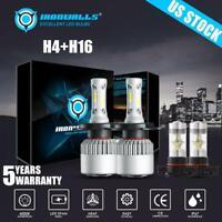 Combo H4 9003+H16JP LED Headlight Bulbs Fog Light For Toyota Tacoma Yaris Tundra