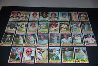 1976 Topps CHICAGO WHITE SOX Complete TEAM Set GOSSAGE Wilber WOOD Bucky DENT