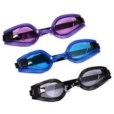 Adult Uv-Lens Swim Goggles Adjustable Silicone Strap Black Blue Purple New
