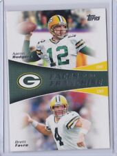 2011 FAVRE / RODGERS TOPPS FACES OF THE FRANCHISE #FF-RF PACKERS