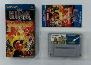 KING OF DRAGONS  with BOX  Nintendo Super Famicom japanese SFC  Japan USED
