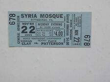 MUHAMMAD ALI vs FLOYD PATTERSON Boxing Ticket 1965 Cassius Clay Fight Boxer