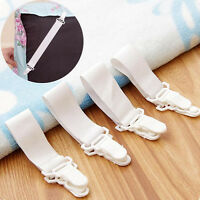 New Fashion 4 Pack: Elastic Mattress Bed Sheet Grippers Fasteners Straps Clips