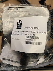 Pack Of 10 Enphase Q Cable Terminator Q-Term-10 MFR-61 Q-TERM-01