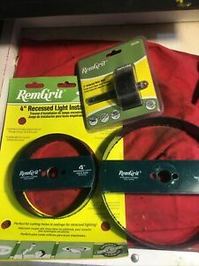 """LOT OF 3 REM GRIT  2"""".4"""" AND 6'""""  RECESSED LIGHT INSTALL CARBIDE GRIT HOLE SAWS"""