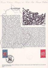 Document Philatélique Timbre 1er Jour : 04/10/ 1975 - Auvergne