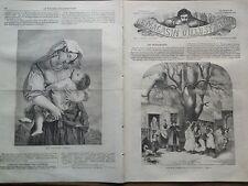 """LE MAGASIN D'ILLUSTRATIONS 1859 N 3 """" UNE MASCARADE DANS LE PALATINAT """""""