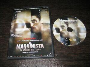 EL MAQUINISTA DVD CHRISTIAN BALE JENNIFER JASON LEIGH AITANA SANCHEZ GIJON