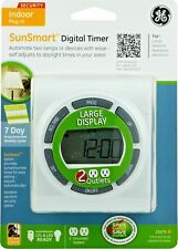 GE SunSmart Indoor Plug-In Digital 7-Day Timer Great for Christmas Lights! 15079