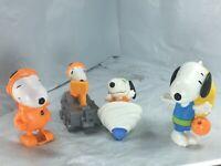 Snoopy McDonald's Toys Set of 4 2019 Peanuts NASA Astronaut  Spinning TOp FS EUC