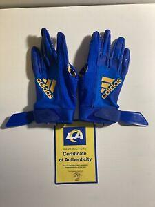 Jalen Ramsey Game Worn Used Gloves Rams vs Seahawks 2020 Rare Rams COA
