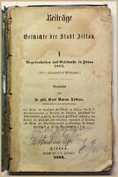 Tobias Beiträge zur Geschichte der Stadt Zittau 1863 Sachsen Ortskunde sf