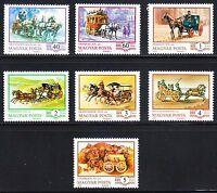 Hungary 1977 Mi 3178-3184 Sc 2464-2470 History of the coach.Horses