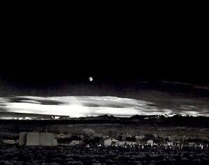 1972 1944 Ansel Adams Moonrise Hernandez New Mexico Art Photo